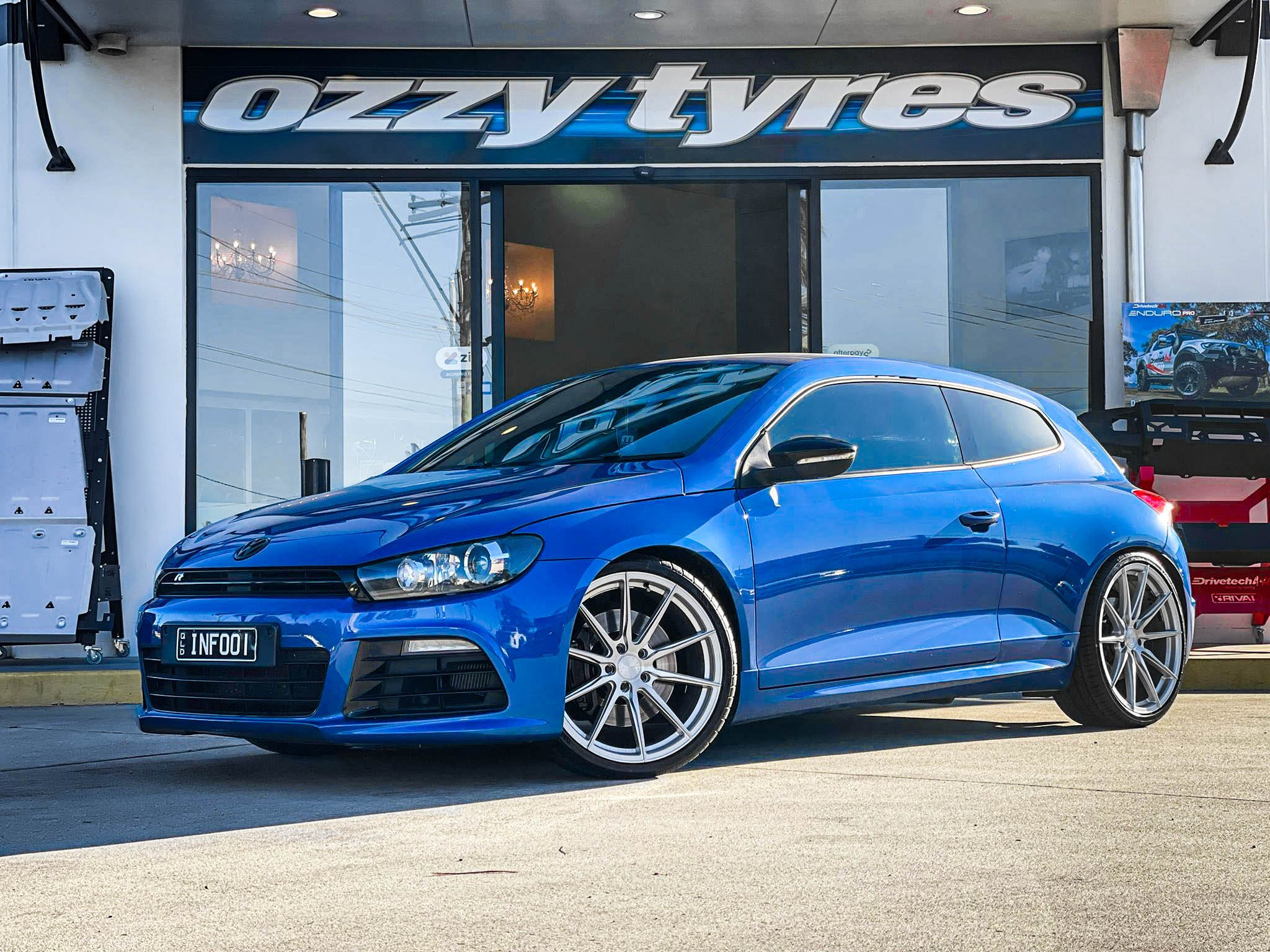 VOLKSWAGEN SCIROCCO VERTINI RF1.1 BRUSHED SILVER MACHINED FACE LEXANI LX20